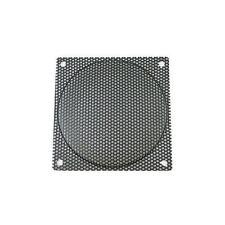 120mm Black Steel Mesh Fan Filter, Medium Hole (2.2mm)