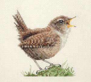 SINGING WREN Garden Bird, Full counted cross stitch kit  *Fido Stitch Studio
