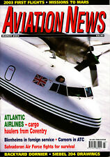 AVIATION NEWS 66/03 MAR 2004 Trainers,Zurich,Siebel Si204D,El Salvador,Blenheim