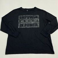 INC International Concepts T Shirt Men's 2XL XXL Long Sleeve Black Crew Neck