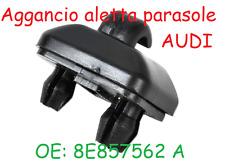Clip Aggancio Aletta Parasole AUDI A3 A4 A6 Q3 TT Nero clips gancio