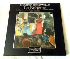 Leoncavallo LA BOHEME Orfeo 3LP Set S-023823F WALLBERG Popp Bonisolli Weikl