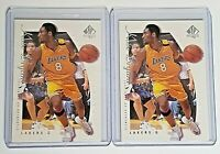 (LOT OF 2) KOBE BRYANT 1999-2000 SP Authentic #38 Base Card - Los Angeles Lakers