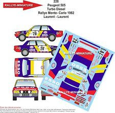 DECALS 1/43 REF 228 PEUGEOT 505 LAURENT RALLYE MONTE CARLO 1982 RALLY WRC
