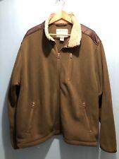 Orvis sherpa collar fleece zip up jacket, size XL