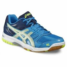 ASICS Gel-rocket 7 Mens Blue Indoor Court Badminton Sports Shoes Trainers UK 9