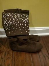 Girls Falls Creek Brown Boots with sparkles Size 4