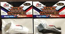 (2) Z-Man Jack Hammer Chatterbaits 3/8oz Green Pumpkin & White 86H