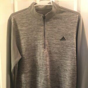 Adidas Mens XL 1/4 zip Pullover Gray