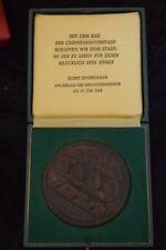 Halle-Neustadt, 10 Jahre Grundsteinlegung 1964 im Etui Bronze Medaille