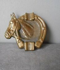 Vintage French BRONZE FIGURAL TRAY PLATE - HORSE -