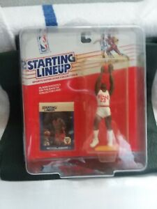 MICHAEL JORDAN, 1988 BASKETBALL STARTING LINE UP, GRADABLE CARD? NEAR MINT.