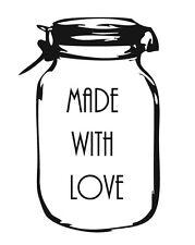 "Personalised stamp ""mason jar"" artisanat, business, mariages, cadeaux"