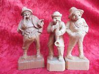 3 Bella Figure di Legno, Legno Intagliato, Trachtenmänner Alto Adige