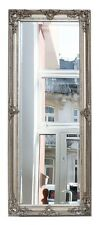Mirror facet cut 54x134cm silver colored pier glass antique style