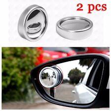 2 Pcs Round Stick-On Convex Rearview Blind Spot Mirror Set