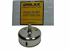 Drilax 3 inch Diamond Coated Drill Bit Hole Saw Glass Ceramic Granite Tile Stone