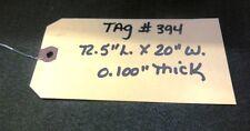 "Unknown Brand Conveyor Belt, 72.5"" L., 20"" W., .100"" Thick, Black Nitrile"