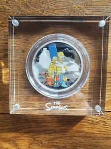 2019 Tuvalu 2 oz Silver The Simpsons: Family Proof