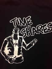Used Time Shares Black Small T-shirt Punk Rock Music Band