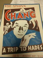 Vintage Chang The Sphinx Issue 1947