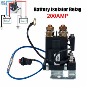 12V Continuous Duty Solenoid 200AMP Battery Isolator Relay High Current Starter