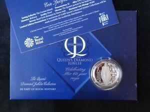 2012 SILVER PROOF CAYMAN ISLANDS $5 COIN + COA DIAMOND JUBILEE THE ROYAL YACHT