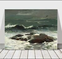 "WINSLOW HOMER - Summer Squall - CANVAS ART PRINT POSTER - Ocean Waves - 12x8"""