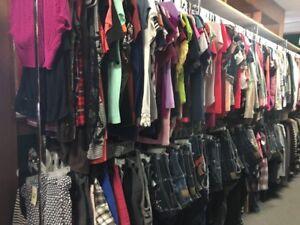 100 PC lot of women's clothing tops pants skirts shirts wholesale Resale Bulk