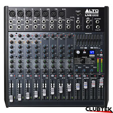 Alto Live 1202 Band Mixer 12 Channel DSP Effects USB Professional Studio Desk UK