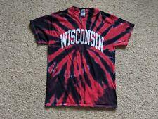 Vintage UW Wisconsin tejones agradecido Rojo estudiante sección Para Hombre Medium T-Shirt