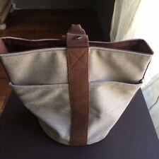 Hermes Canvas Bucket Bag Handbag