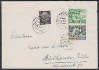 DR SK 35, 512 MiF auf Brief, gel. Essen - Mülheim Ruhr 06.03.1940, Kehrdruck