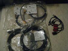 *LOT* (4)  LEUZE HRTR 3B/66 200-S12 Sensors, LEUZE (2) 50104545, (2) EVC243 Cord