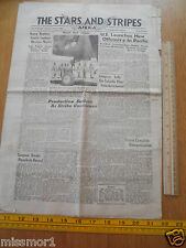 Stars and Stripes July 1943 Africa ver bombing Leghorn Naples Arabs in war