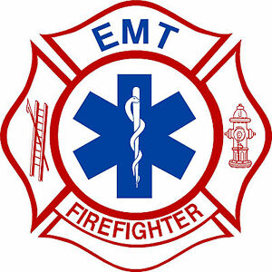 "Firefigher Decal Firefighter EMT 8"" Exterior window Decal with FREE SHIPPING"