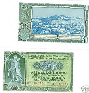 Tschechoslowakei 50 Korun 1953  kassenfrisch  Pick 85b