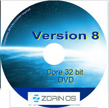 Zorin 8.1 Core 32 bit Linux Operating System Desktop Notebook Laptop