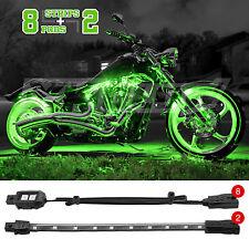 10 pc Bright LED Motorcycle Accent Light Kit Yamaha Honda Kawasaki Trike - GREEN