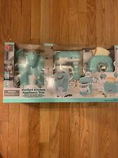 Play Perfect Kitchen Appliance Trio Playset, Aqua, Brand New