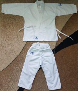 Adidas Small Kids Kimono Trainig Uniform White 100 cm K 200