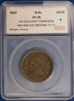 1852 Braided Large Cent. VF With Moderate Cud. ET1100A/HN
