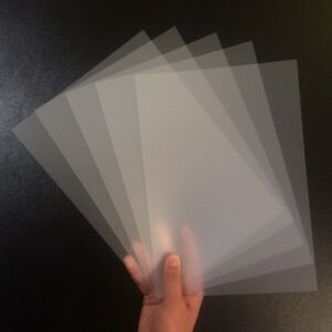 A4 Frosted Acetate Sheet-Clear Thin Flexible Polypropylene Plastic Binding Cover