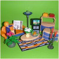 Playmobil 3966 - komplettes Wohnzimmer mit Aufbauanleitung