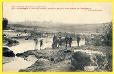 cpa Catastrophe LEUVEN HERENT Averses Inondation 1906 BLOCS de PIERRES Enfants