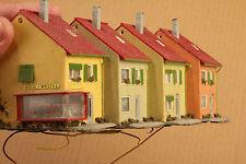H0 4 Casas Adosadas con Cargar Marcas de Uso / Suciedad/Cubos Desmontar B1