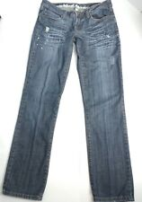 Mudd Womens Jeans Junior Sz 11 Skinny Distressed Embroider Embellished Whiskers