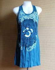 New BABU Yoga Mini Dress Sleeveless LOTUS  OM OMH AUM Hippie Free size