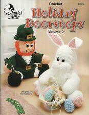 Holiday Doorstops #2 Cynthia Harris Crochet Patterns Reindeer Pilgrim Angel+ NEW