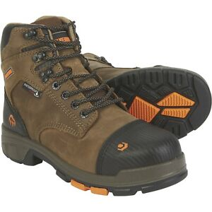 """Wolverine Boots Mens Blade LX Waterproof CarbonMAX Safety Toe 6"""" Boot `9  EW"""